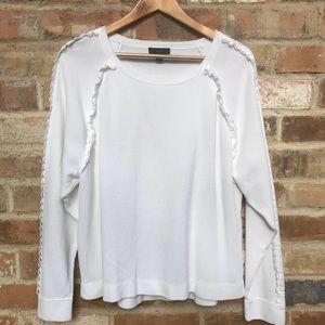 J Crew embroidered Sleeves Sweatshirt Look XL